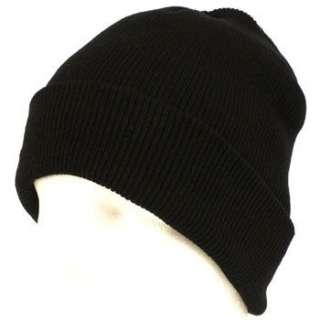 Wiinter Thinsulate Knit Ski Beanie Skull Hat 2ply Black