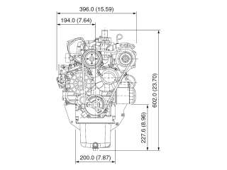 NEW 25HP D1105 Kubota Industrial Diesel Engines, In Line 3 cylinder, 1