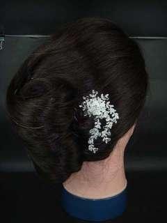 Bridal Crystal Rhinestone Flower Headpiece Hair tiara Comb RB210