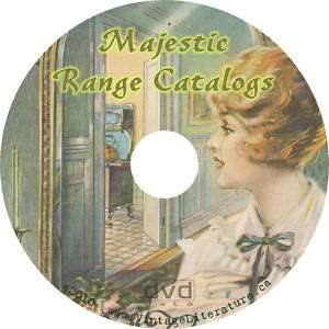 Majestic Antique Wood Stove {3} Catalogs on CD