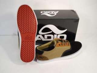 NEW ADIO OXFORD MENS SKATE SHOES   BLACK/BROWN/TAN