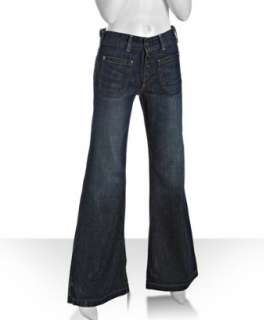 AG Adriano Goldschmied dark blue Viceroy wide flare leg jeans