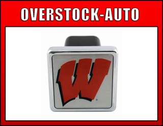inch College Trailer Hitch Cover   Wisconsin Badgers NCAA Logo