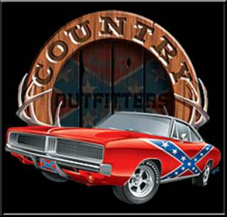 Country Outfitters Rebel Flag Dixie Car T Shirt KIDS