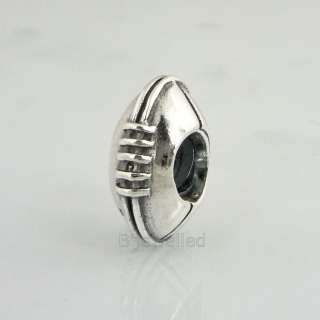 Authentic Pandora Sterling Silver Football Charm Bead