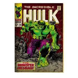 Marvel Comics Retro The Incredible Hulk Comic Book Cover