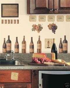 56 WINE TASTING Peel Stick Wall Decals Kitchen Stickers 034878740232