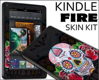 Fire Skin Vinyl Decal eBook Netbook Tablet #295 Sugar Skull