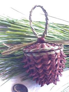 Small Pine Cone basket   from the pine tree state by Pam Cunningham