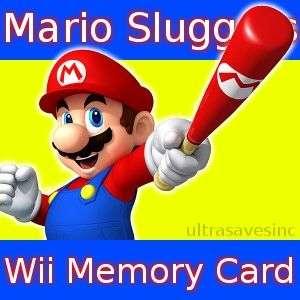 Mario Super Sluggers Nintendo Wii Baseball Memory Card