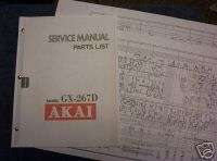AKAI GX 267D Reel to Reel Service Manual pdf. On CD ROM |