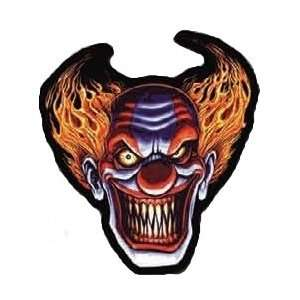 SCARY EVIL CLOWN LAUGHING EMBROIDERED BIKER BACK PATCH